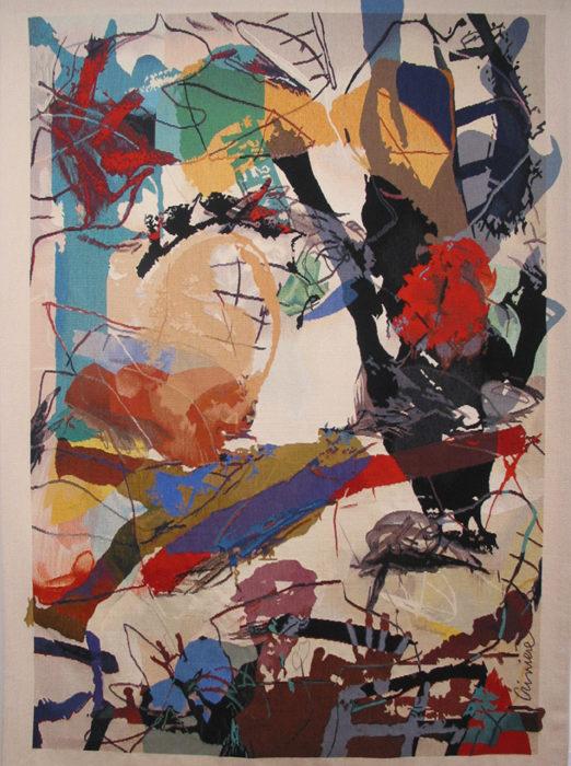 Attentat, 176 x 135 Tissage Atelier Courrant D'Art