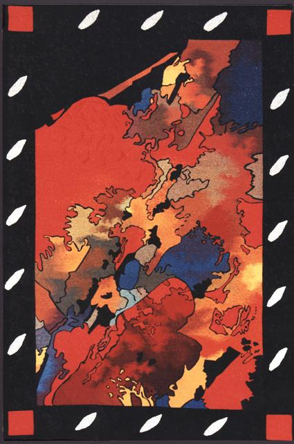 Bataille, tapisserie Création Perrin-Crinière F-O