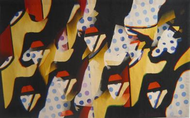 Disque bleu, tapisserie d'aubusson