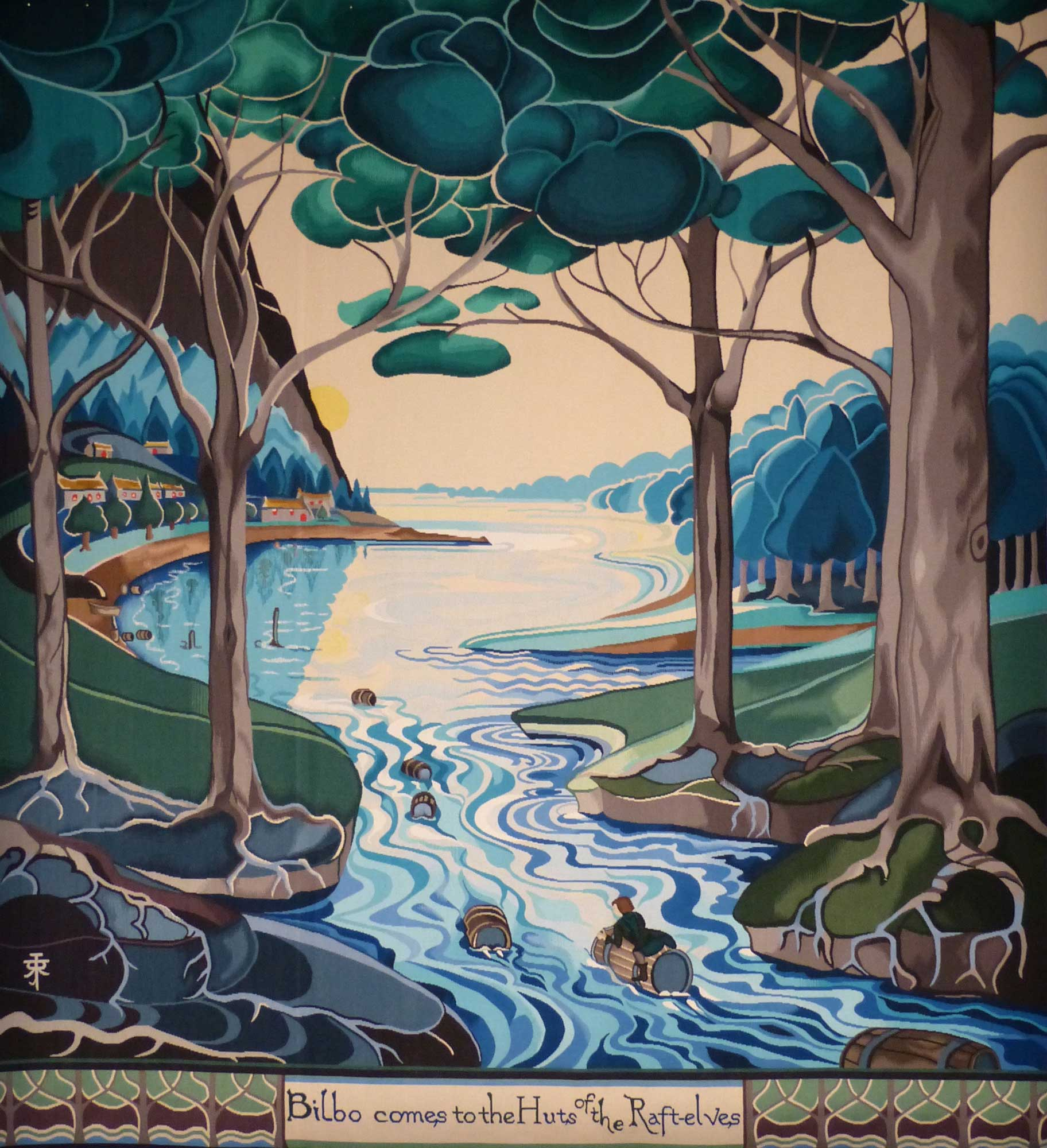 Bilbo Comes to the huts of the raft-Elves - Au busson tisse Tolkien