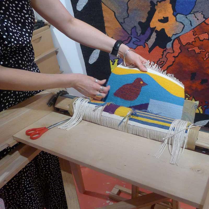 formation à la tapisserie d'aubusson - tissage