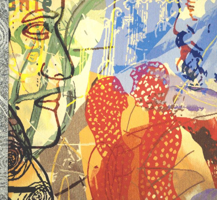 Granit-tapisserie tissé pour la salle de réunion de la Mutualité Française Creuse 2009